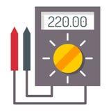多用电表电子测量技术设备工具电压表电子测试传染媒介例证 库存图片