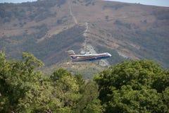 多用途两栖航空器是200ES 俄国 库存照片