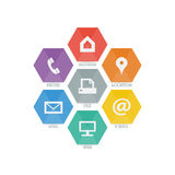 多用途套事务、财务和通信的网象 免版税库存照片