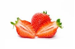 水多的可口草莓 免版税库存图片