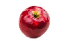 水多的成熟红色苹果 免版税库存照片