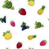 水多的果子的无缝的样式 库存照片