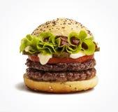 水多的汉堡 免版税库存照片