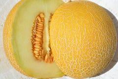 水多的黄色Galiamelon 图库摄影