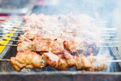 水多的kebabs 免版税图库摄影