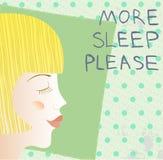 更多睡觉 免版税图库摄影