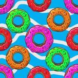多福饼与洒无缝的样式传染媒介例证 图库摄影