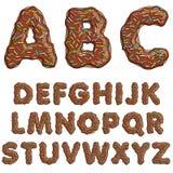 多福饼字体,鲜美字母表 替换 库存例证