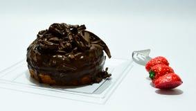 多福饼巧克力顶部 免版税库存照片