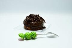 多福饼巧克力顶部 库存照片