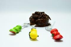 多福饼巧克力顶部 库存图片
