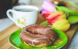 多福饼早餐 免版税库存照片