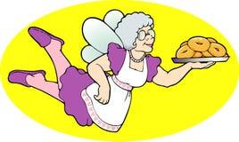 多福饼神仙 向量例证