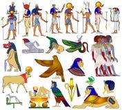 多种古老埃及主题 向量例证