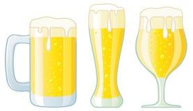 多种啤酒杯 向量例证