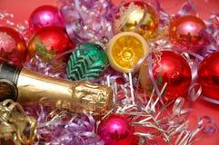 多种圣诞节装饰 免版税库存照片