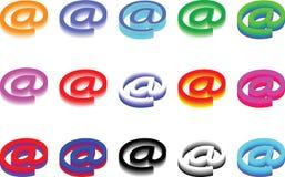 多种在符号-向量 免版税图库摄影