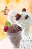 多种奶油色冰 免版税图库摄影