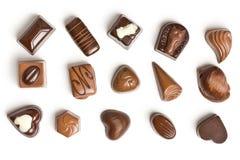 多种巧克力果仁糖 免版税图库摄影