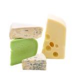 多种干酪类型 免版税库存照片