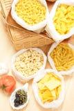 多种意大利面食 库存图片