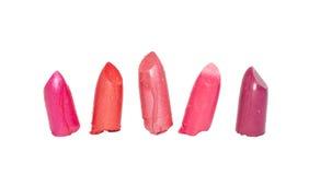 多种接近的唇膏 库存图片