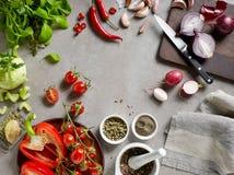 多种新鲜蔬菜 图库摄影