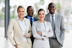 多种族企业队办公室 库存图片
