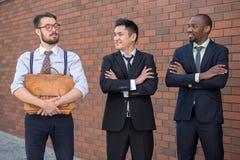 多种族企业队画象  免版税库存照片