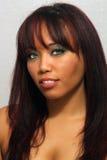 多种族1美好的女孩的headshot 免版税库存照片