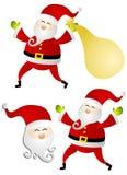 多种查出的圣诞老人剪贴美术 库存照片