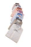 多种查出的衬衣 免版税库存照片