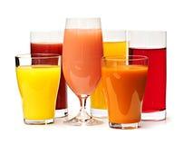 多种玻璃汁液 免版税库存图片