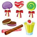 多种甜点 库存图片