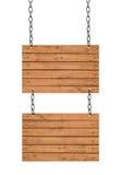 多种空的木符号的收集在空白背景的 免版税库存图片