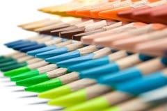 多种色的蜡笔 免版税库存图片