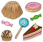 多种蛋糕收藏 库存图片