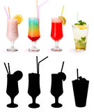多种非酒精鸡尾酒2。 免版税库存照片