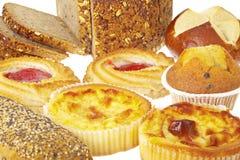 多种面包店产品 免版税库存图片