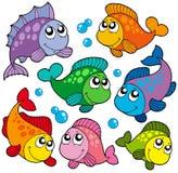 多种2条收集逗人喜爱的鱼 库存照片