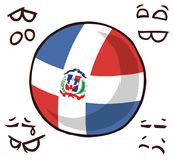 多米尼加共和国国家球 向量例证