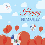 多米尼加共和国平的美国独立日 皇族释放例证