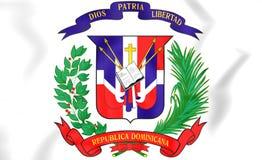 多米尼加共和国徽章 库存图片