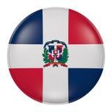 多米尼加共和国按钮 皇族释放例证