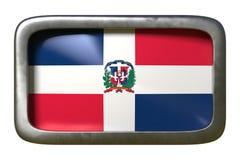 多米尼加共和国旗子标志 库存例证