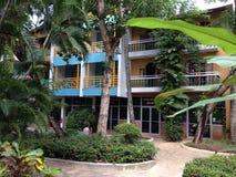 多米尼加共和国棕榈三绿色旅馆唐璜旅行旅馆 库存照片
