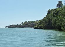 多米尼加共和国沿海风景 免版税图库摄影