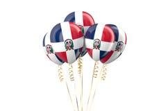 多米尼加共和国爱国气球holyday概念 免版税库存照片