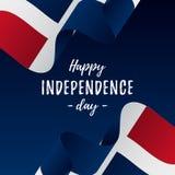 多米尼加共和国独立日庆祝横幅或海报  多米尼加共和国的标志共和国 也corel凹道例证向量 皇族释放例证