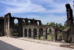 多米尼加共和国的修道院的废墟 库存照片